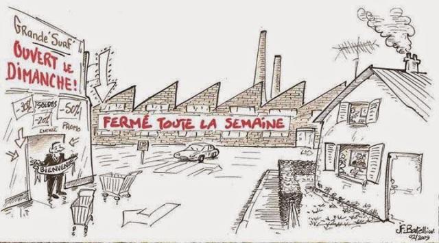 blog -loi Macron-usines fermees-magasins ouverts-Batelier