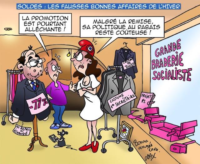 xav-dessins-de-presse-bd-soldes-hollande-caricature-remises-hiver-promesses-chomage-popularite-sondages-france-francois-politique-ps-francais-republique-humour-ps-gouvernement-ump-elysee-economie-socialites-dessin-braderie-promotion-affaires-2014